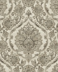 Carnegie Black Damask Wallpaper by