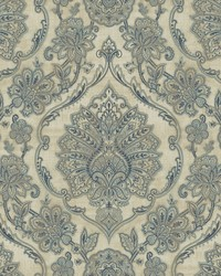Carnegie Beige Damask Wallpaper by