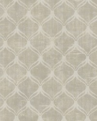 Bowery Taupe Ogee Wallpaper by  Brewster Wallcovering