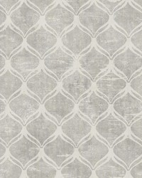 Bowery Silver Ogee Wallpaper by  Brewster Wallcovering
