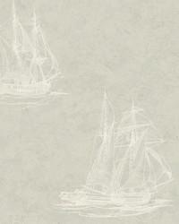 Hudson Bay Sage Nautical Wallpaper by  Brewster Wallcovering