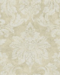 Astor Gold Damask Wallpaper by