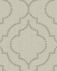 Chelsea Taupe Quatrefoil Wallpaper by