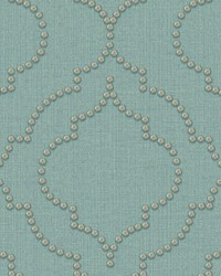 Chelsea Turquoise Quatrefoil Wallpaper by
