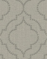 Chelsea Grey Quatrefoil Wallpaper by