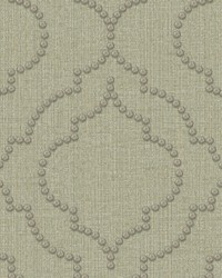 Chelsea Teal Quatrefoil Wallpaper by