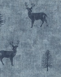 Sugar Hill Blue Lodge Wallpaper by