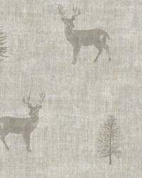 Sugar Hill Taupe Lodge Wallpaper by