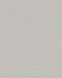 Blaze Taupe Trellis Wallpaper by