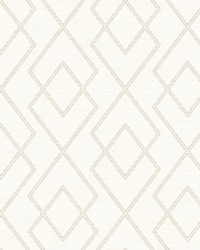 Blaze White Trellis Wallpaper by