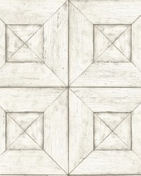 Verity Off-White Wood Wallpaper by