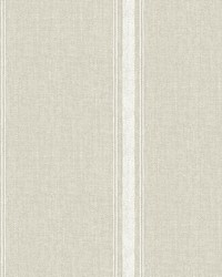 Linette Light Grey Fabric Stripe Wallpaper by