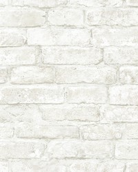 Arlington Off-White Brick Wallpaper by