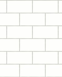 Freedom Off-White Subway Tile Wallpaper by