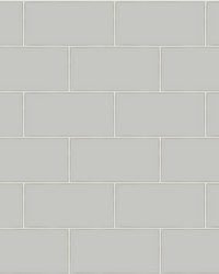 Freedom Grey Subway Tile Wallpaper by