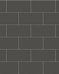 Freedom Black Subway Tile Wallpaper by