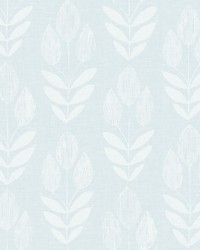 Garland Light Blue Block Tulip Wallpaper by