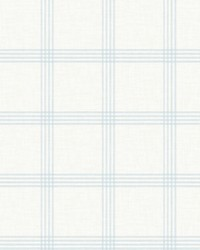 Ester Light Blue Plaid Wallpaper by