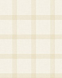 Ester Wheat Plaid Wallpaper by