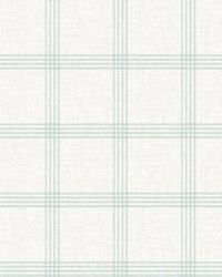 Ester Teal Plaid Wallpaper by