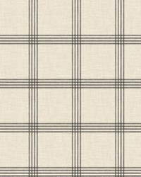 Ester Black Plaid Wallpaper by