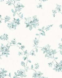 Cyrus Teal Floral Wallpaper by