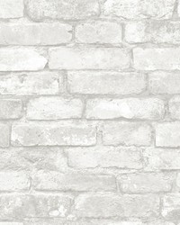 Buchanan Off-White Brick Wallpaper by
