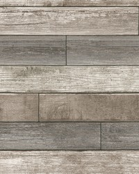 Emory Multicolor Reclaimed Wood Plank Wallpaper by