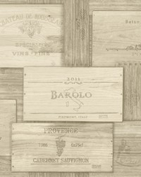 Randolph Beige Wine Boxes Wallpaper by