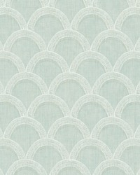 Bixby Turquoise Geometric Wallpaper by