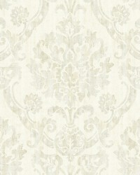 Shasta Beige Damask Wallpaper by
