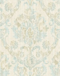 Shasta Taupe Damask Wallpaper by