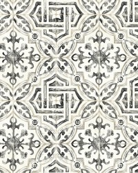 Sonoma Black Spanish Tile Wallpaper by