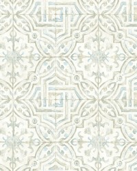 Sonoma Taupe Spanish Tile Wallpaper by