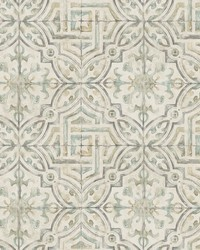Sonoma Olive Spanish Tile Wallpaper by