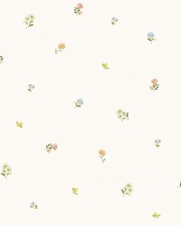 Bloom Toss Multicolor Floral Wallpaper by