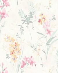 Henrietta Pastel Floral Wallpaper by