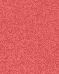 Majorca Red Vivacious Floral Relief by