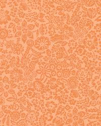 Majorca Orange Vivacious Floral Relief by