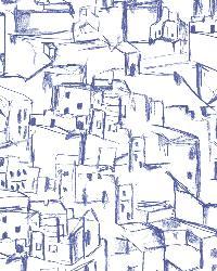 Kasabian Blue Hillside Village Sketch by