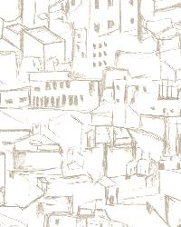 Kasabian White Hillside Village Sketch by