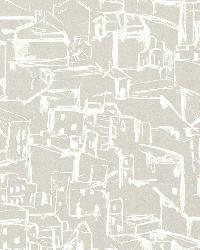 Kasabian Taupe Hillside Village Sketch by