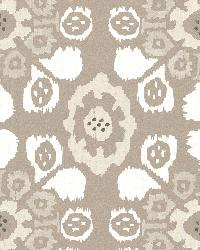 Valencia Taupe Ikat Floral by