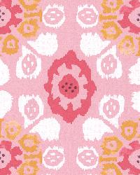 Valencia Pink Ikat Floral by