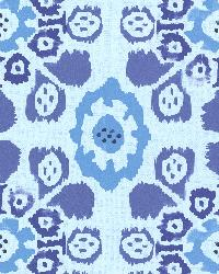 Valencia Blue Ikat Floral by