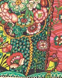 Paraiso Red Kaleidoscopic Floral by