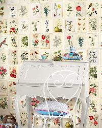Botanical Paper Mural by