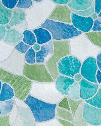 Blue And Green Stained Glass Window Film by