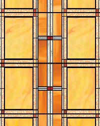 Arts And Crafts Stained Glass Window Film by