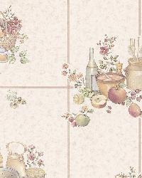 Pajer Beige Vintage Fruit Tile by